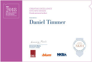 Dan Timmer NKBA2018 Award - Creative Excellence- small